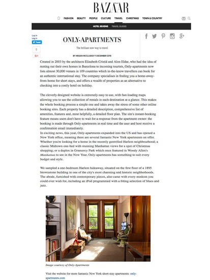 Only-apartments on Harpers.com
