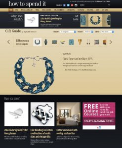 The Folly Boutique in FT how to spend it, liz parry pr