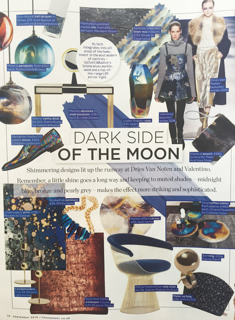 Liz parry pr coverage in living etc, Shh by Sadie