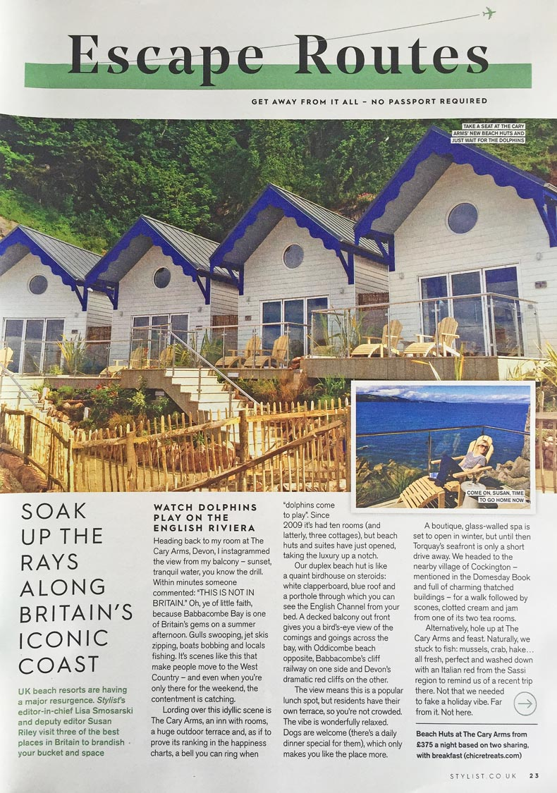 chic retreats in stylist, liz parry pr travel coverage