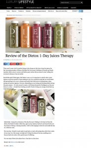 Dietox on Luxurylifestyle.com