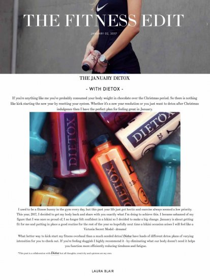 Dietox on The London Fashion Girl