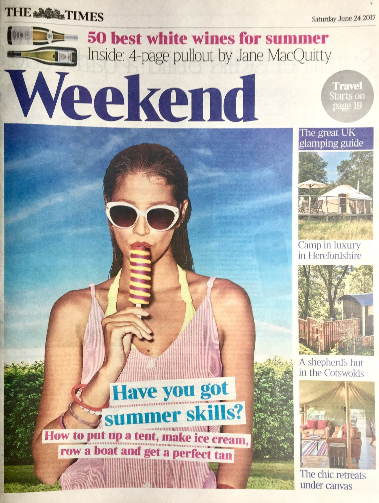 Happy Days glamping in The Times