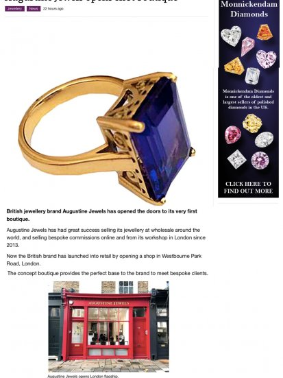 Augustine Jewels in Professional Jeweller