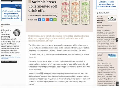 Switchle in Natural Product News