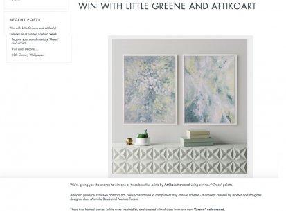 AttikoArt x Little Greene Collaboration