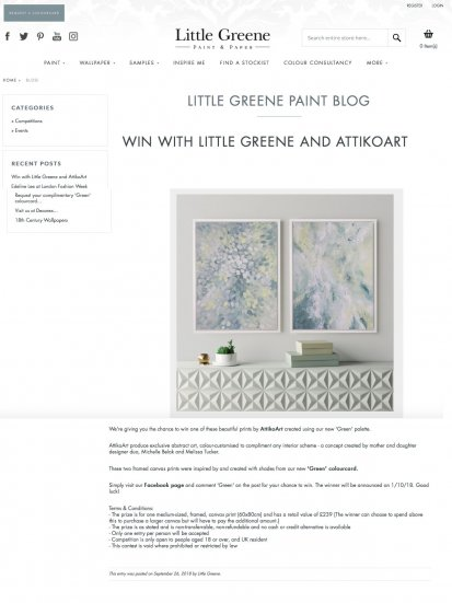 AttikoArt x Little Greene Collaboration