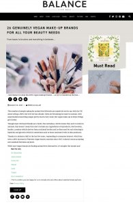 Eco Cosmetics on Balance.com