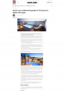Marie Claire, OD Hotels, Liz Parry PR