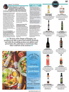 Speciality Food mag, rayners oil