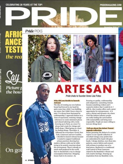 Artesan in Pride Magazine