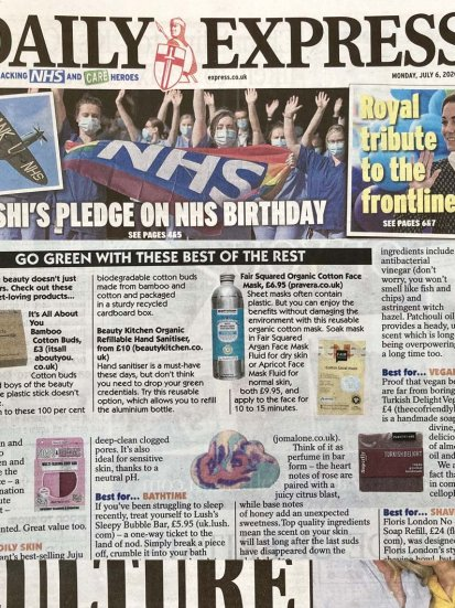 Fair Squared in Daily Express
