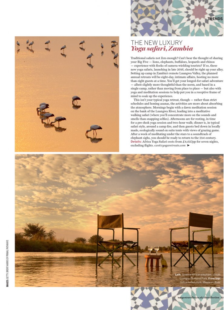 Nat geo traveller, liz parry pr coverage