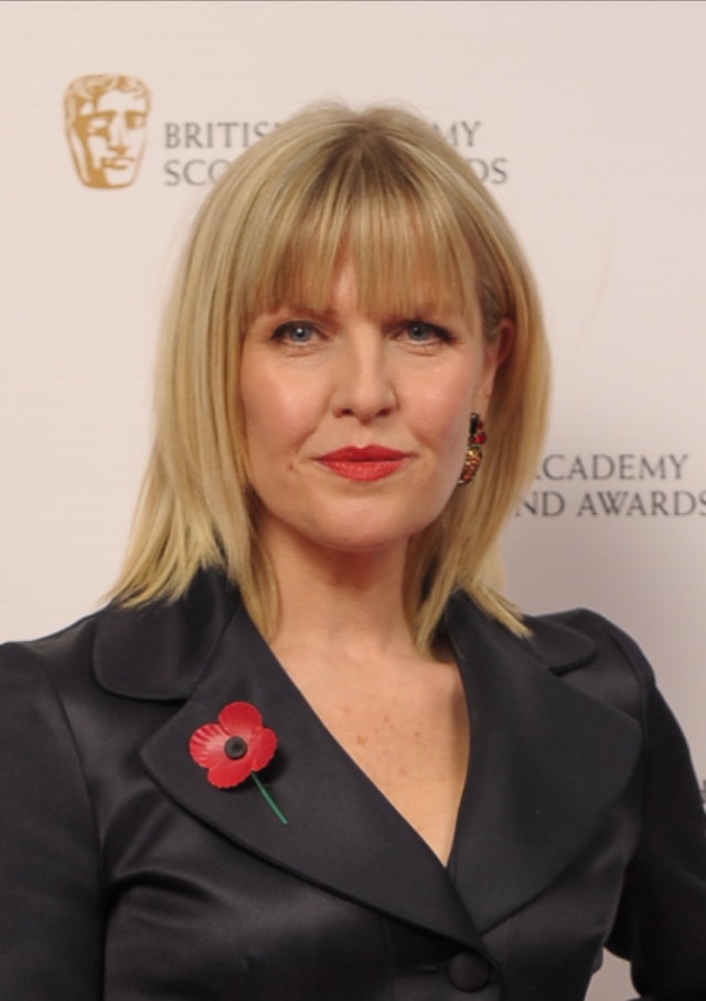 Ashley Jensen wearing Rodrigo Otazu