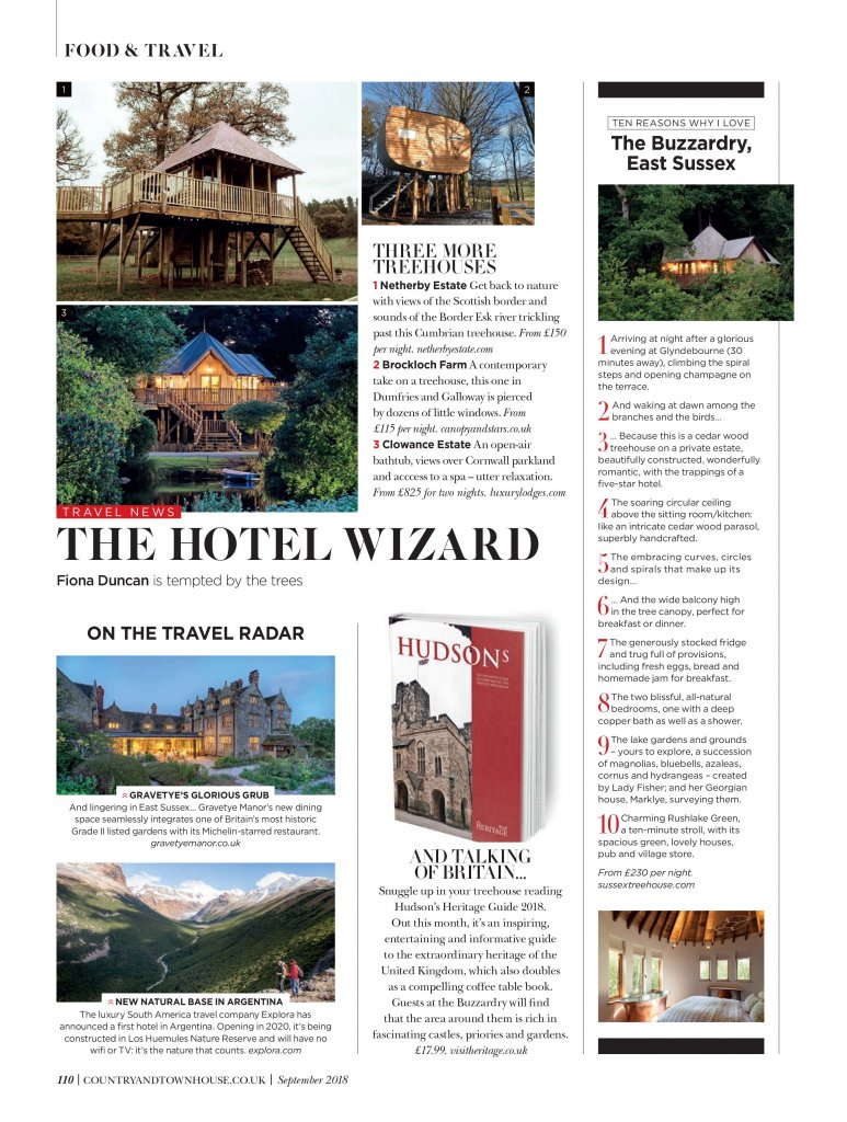 explora in Country & Townhouse, travel PR