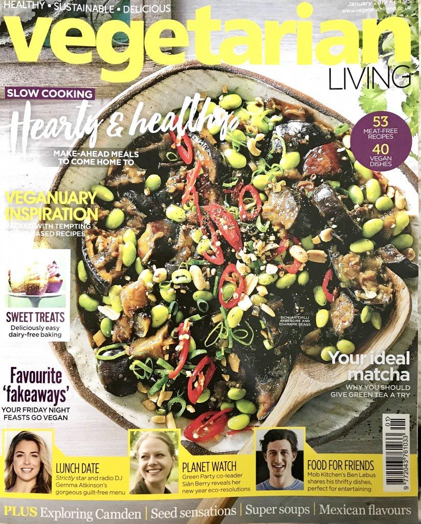 Vegetarian Living, features Eco Cosmetics
