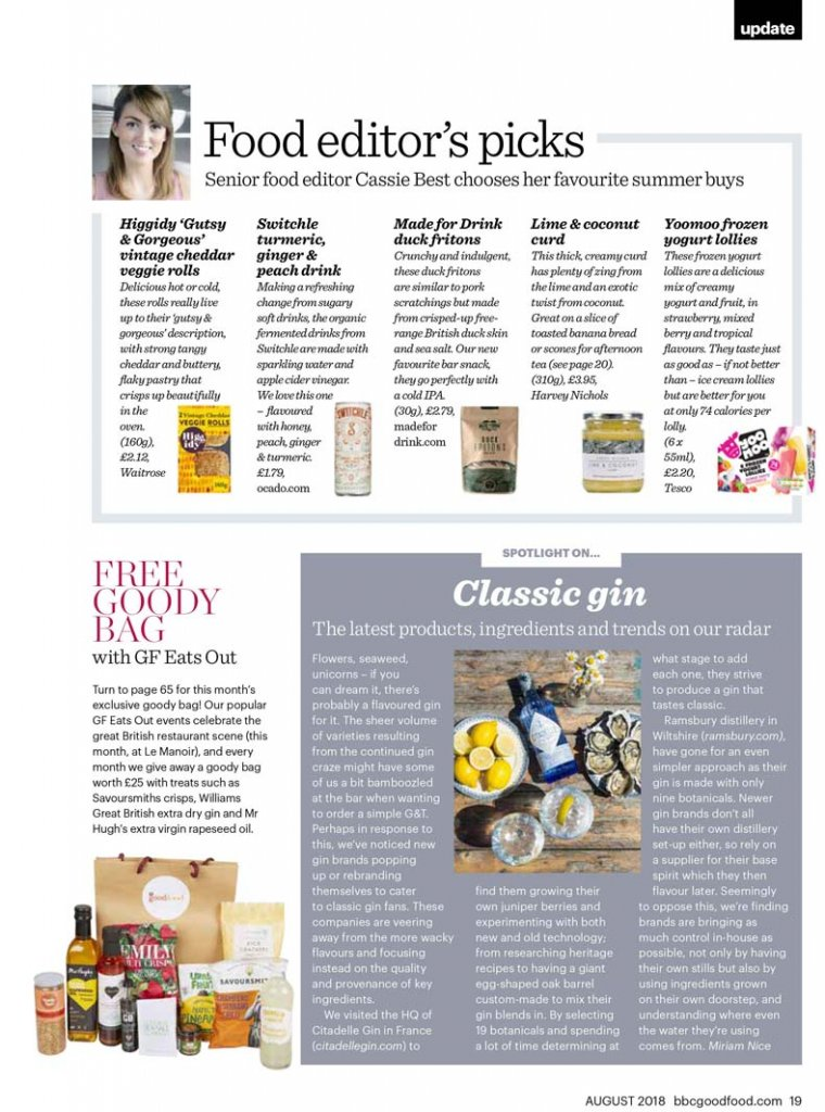 Switchle in BBC good food, Liz Parry PR