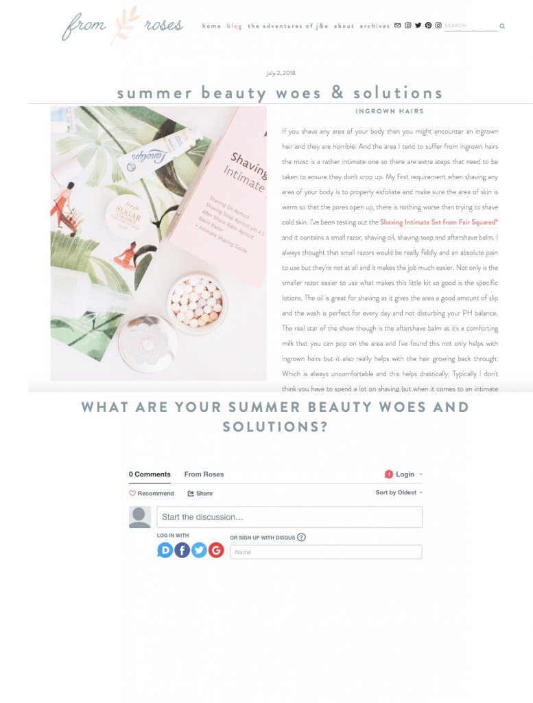 Fair Squared in From Roses Blog, Liz Parry PR