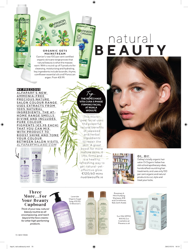 Eco Cosmetics in Tatler