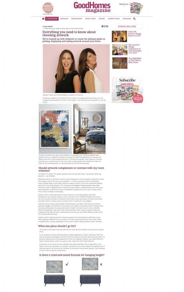 AttikoArt in Good homes magazine