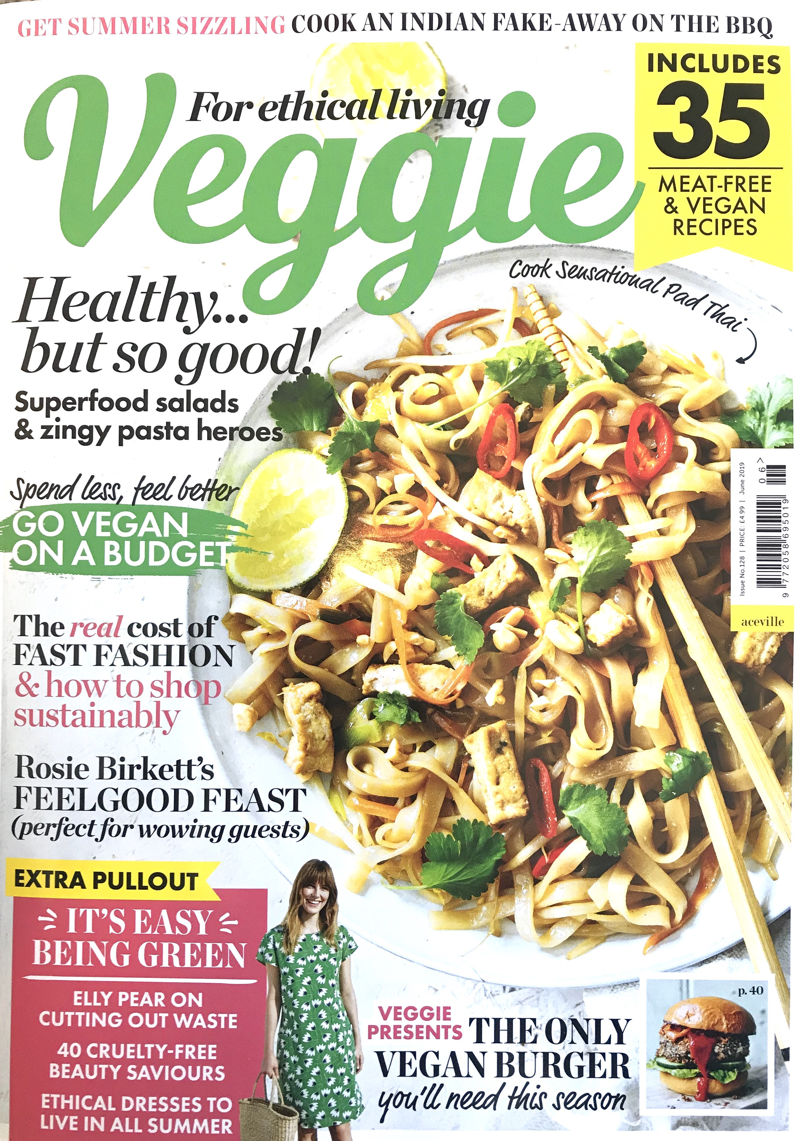 Ben & Anna in Veggie magazine, Liz Parry PR