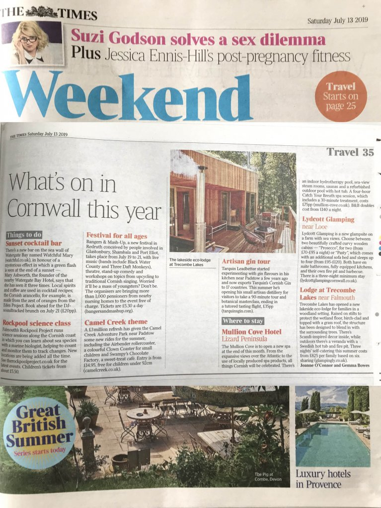 Quirky Accom in The Times, Liz Parry PR