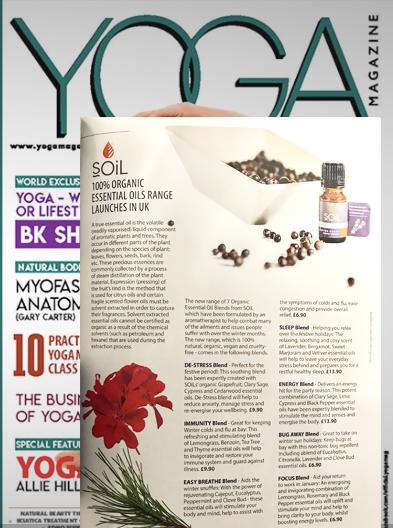 Soil aromatherapy in Yoga magazine, Liz Parry PR