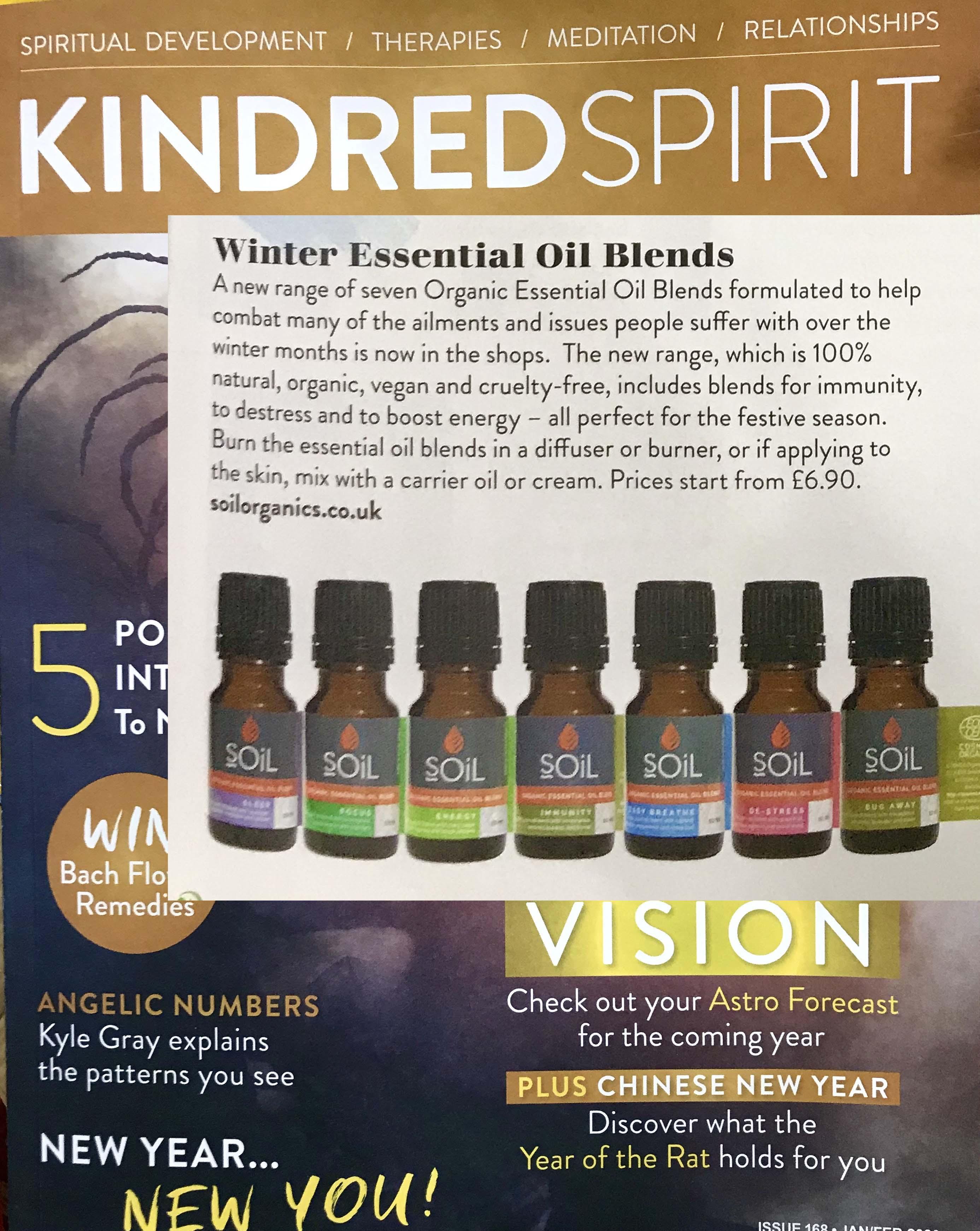 SOiL aromatherapy in Kindred Spirit