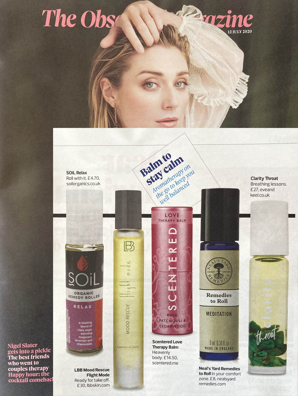 Soil aromatherapy in Observer mag