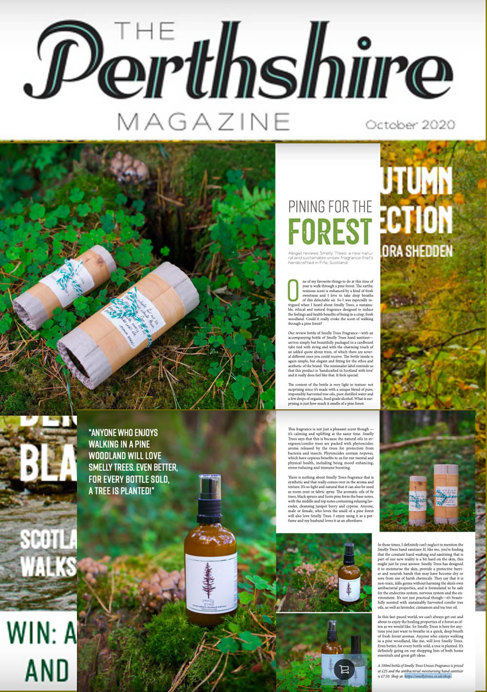 Perthshire Magazine, smelly trees, LPPR
