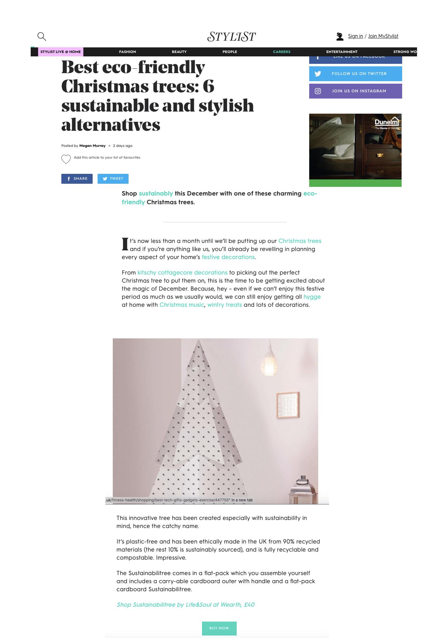 Stylist, sustainabilitree, LPPR