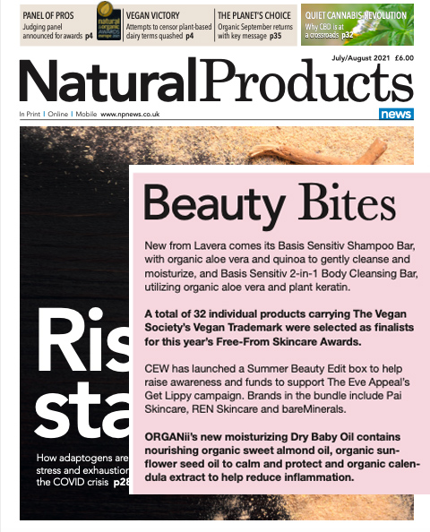 ORGANii's new 'dry baby oil' featured in Natural Products News